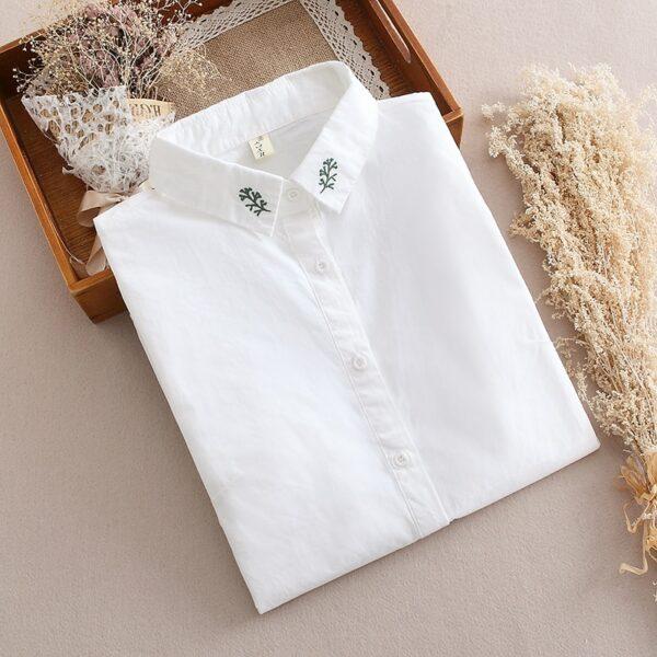 Chemise Blanche Brodée Femme 10 | Soirée Blanche