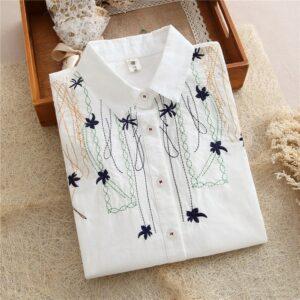 Chemise Blanche Brodée Femme 28 | Soirée Blanche