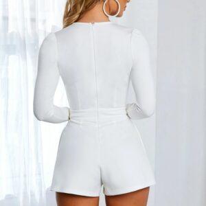 Combishort Blanc Sexy 4 | Soirée Blanche