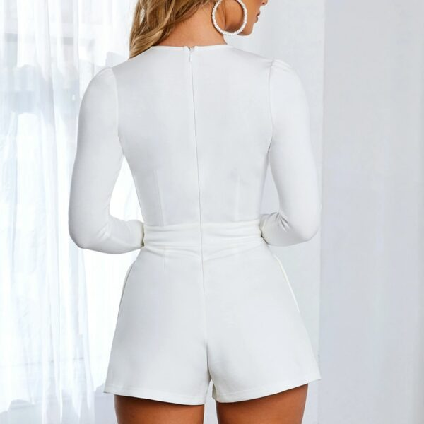 Combishort Blanc Sexy 3 | Soirée Blanche