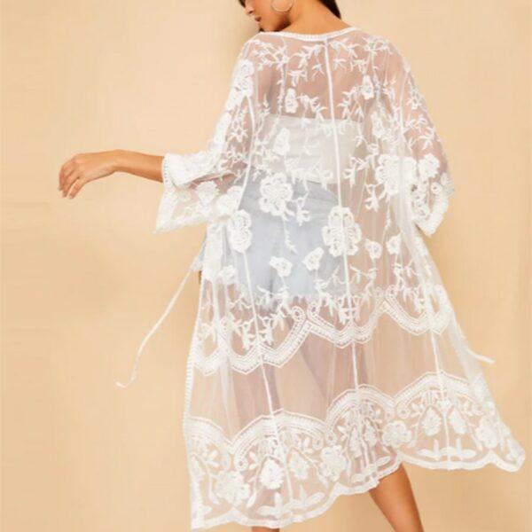 Veste Longue Blanche Femme 6 | Soirée Blanche