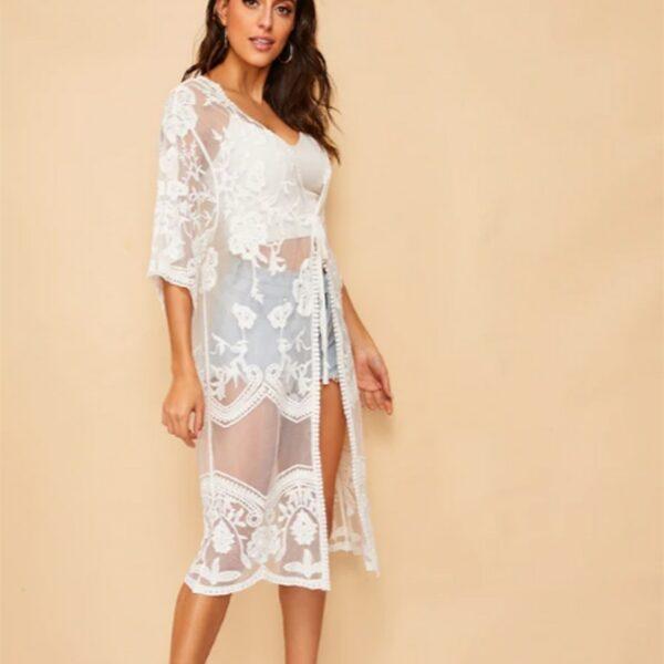 Veste Longue Blanche Femme 5 | Soirée Blanche