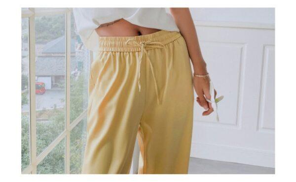 Pantalon Blanc Fluide 9 | Soirée Blanche