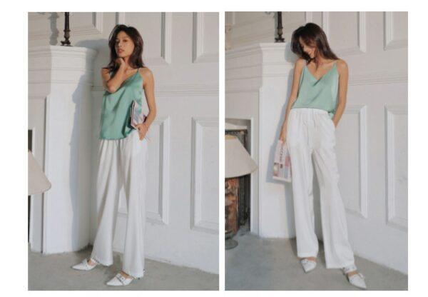 Pantalon Blanc Fluide 1 | Soirée Blanche