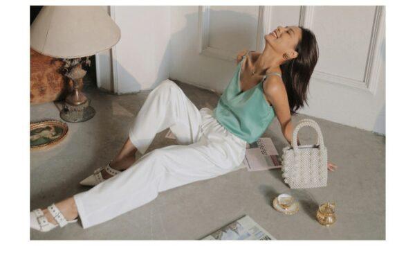 Pantalon Blanc Fluide 2 | Soirée Blanche