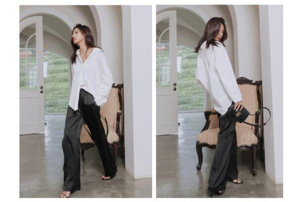 Pantalon Blanc Fluide 11 | Soirée Blanche