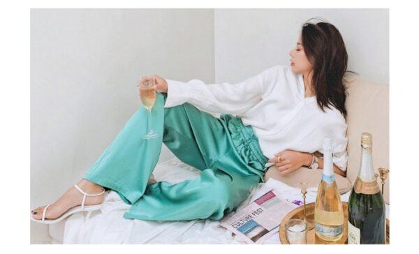 Pantalon Blanc Fluide 6 | Soirée Blanche