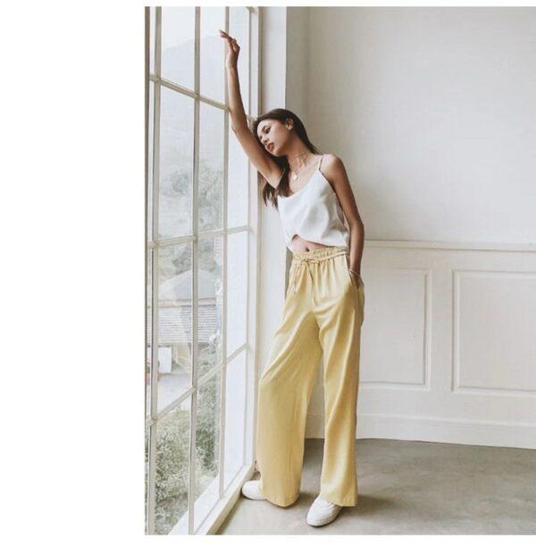 Pantalon Blanc Fluide 8 | Soirée Blanche