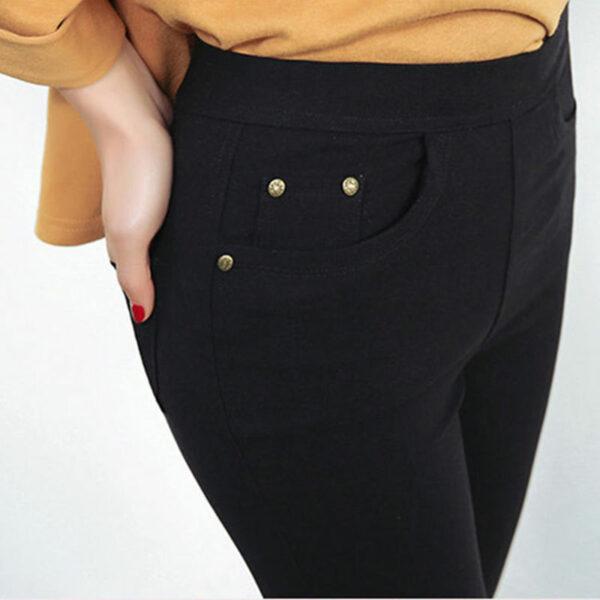 Pantalon Blanc Femme Slim 2   Soirée Blanche
