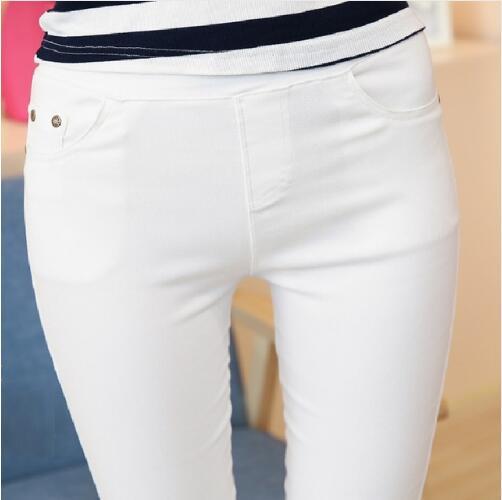 Pantalon Blanc Femme Slim 1   Soirée Blanche