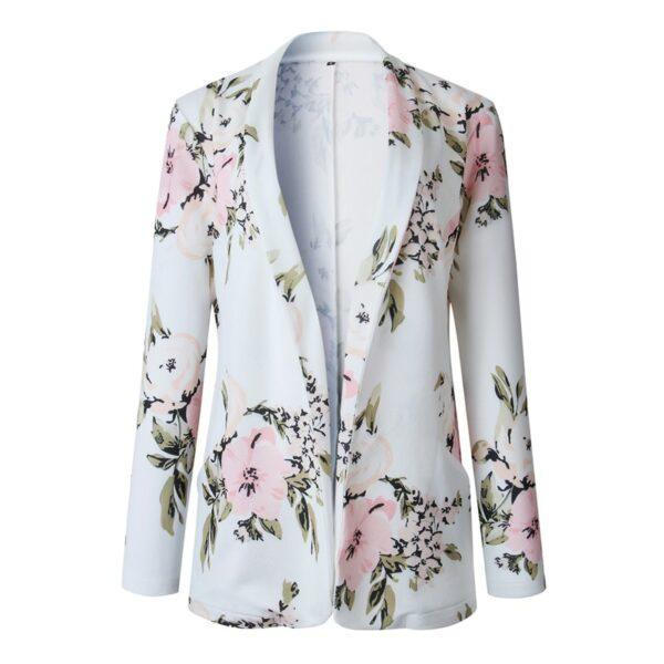 Blazer Blanc A Fleur 7 | Soirée Blanche