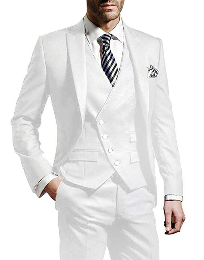 Costume Blanc Homme Chic 3 Pièces