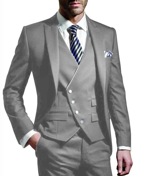 Costume Blanc Homme Chic 3 Pièces 14 | Soirée Blanche
