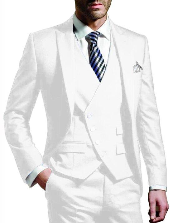 Costume Blanc Homme Chic 3 Pièces 12 | Soirée Blanche