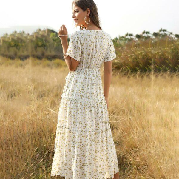 Robe Longue Blanche Fleurie 3 | Soirée Blanche