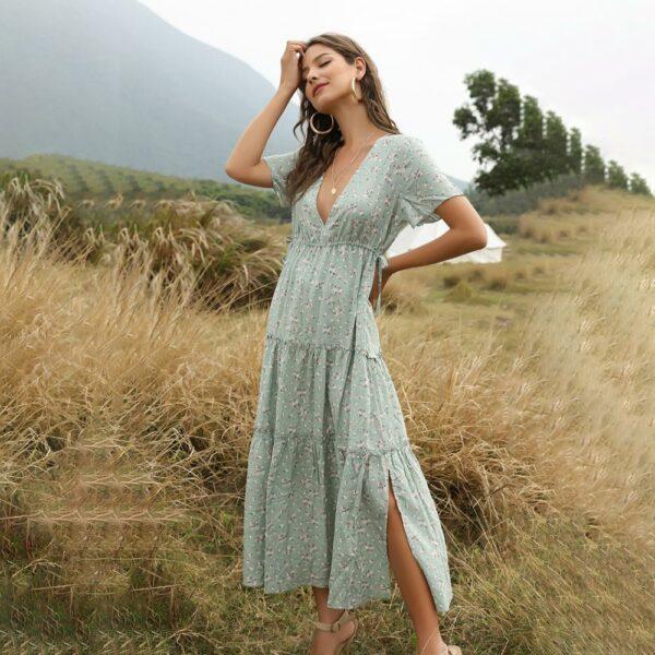 Robe Longue Blanche Fleurie 4 | Soirée Blanche