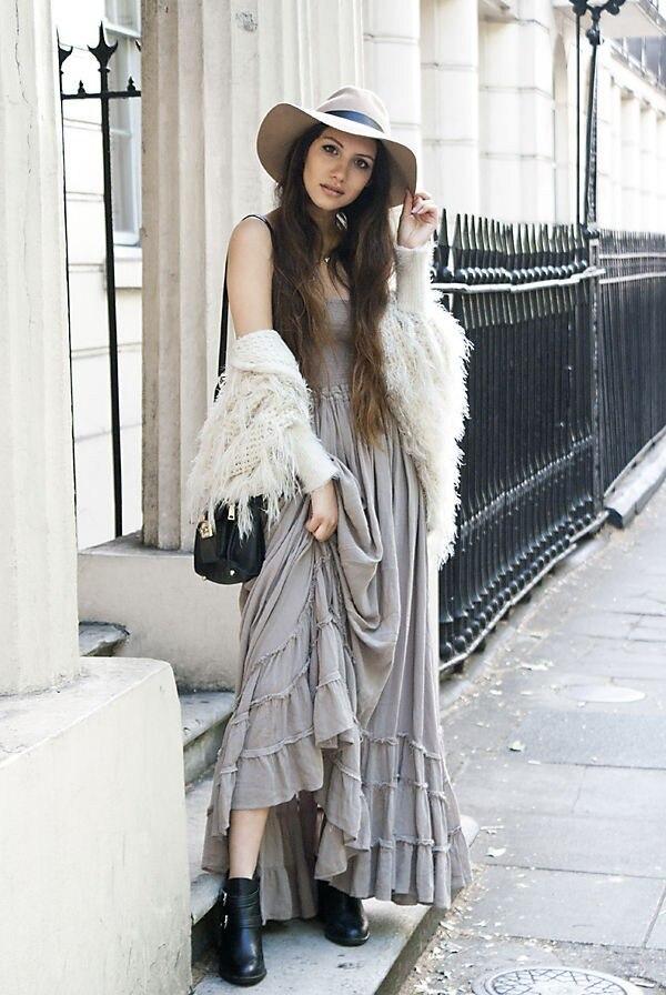 Robe Longue Hippie Bohème Blanche