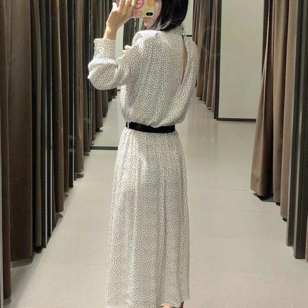 Robe Longue Blanche Avec Ceinture - Soirée Blanche