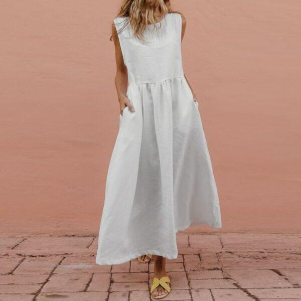 Longue Robe Blanche - Soirée Blanche