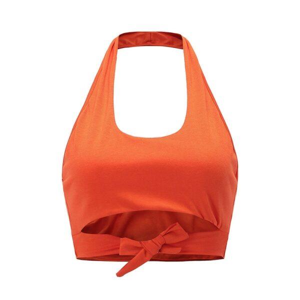 Crop Top Orange - Soirée Blanche