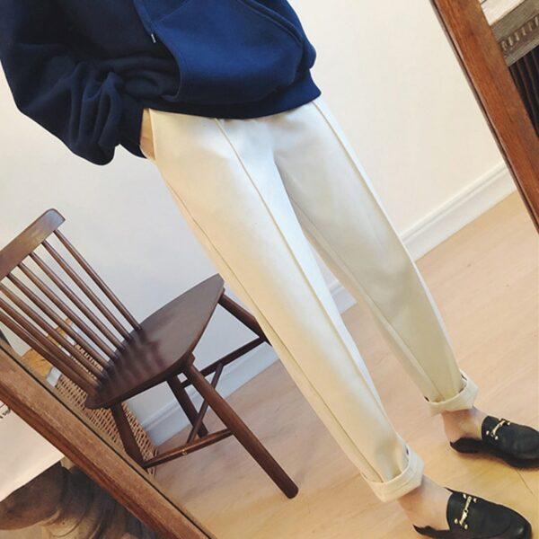 Pantalon Blanc aux Chevilles | Soirée Blanche