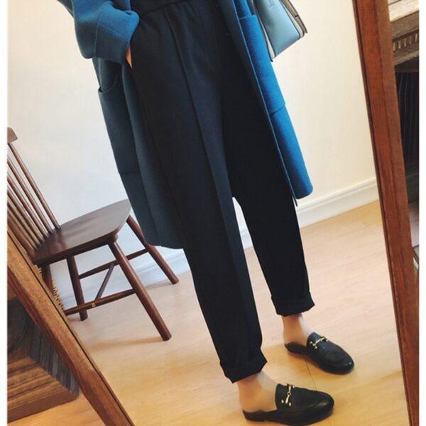 Pantalon Noir aux Chevilles | Soirée Blanche