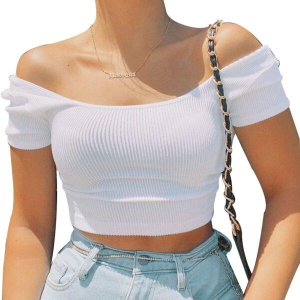Tee Shirt Blanc Croisé Dos | Soirée Blanche