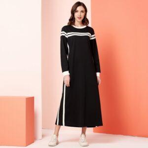 Robe Longue Noire Et Blanche | Soirée Blanche