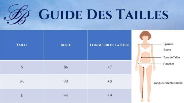 Robe Hippie Blanche - Guide des Tailles | Soirée Blanche