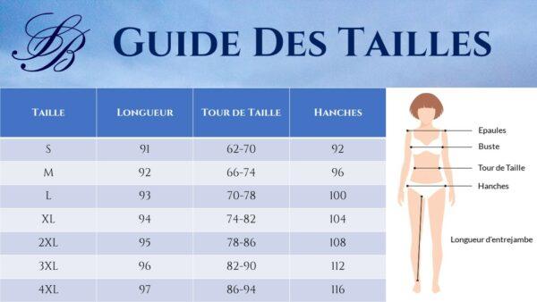 Guide des Tailles - Pantalon Cigarette Blanc - Soirée Blanche