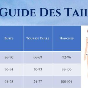 Guide des Tailles - Robe Blanche Dentelle Manches Longues - Soirée Blanche