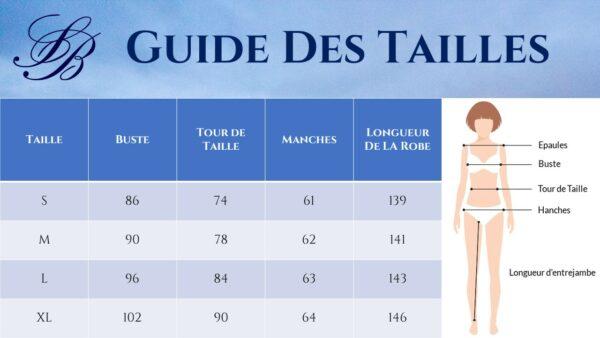 Guide des Tailles - Robe Bohème Longue Blanche - Soirée Blanche