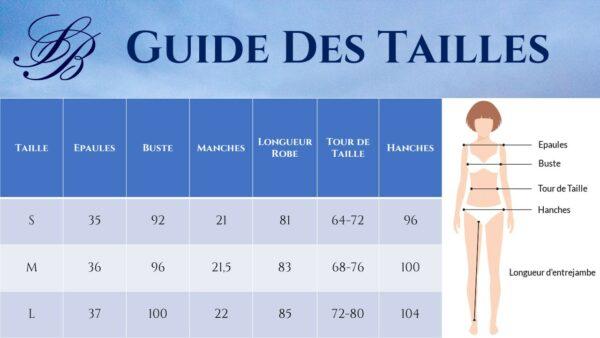 Guide des Tailles - Robe Courte Blanche Lacets - Soirée Blanche