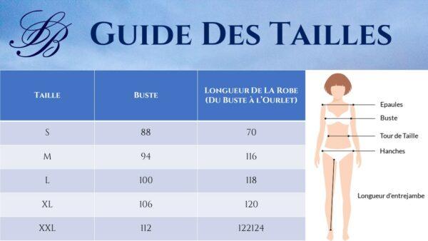 Guide des Tailles - Robe Longue Hippie Bohème Blanche - Soirée Blanche