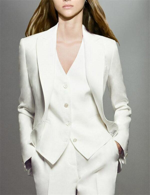 Tailleur Blanc Femme