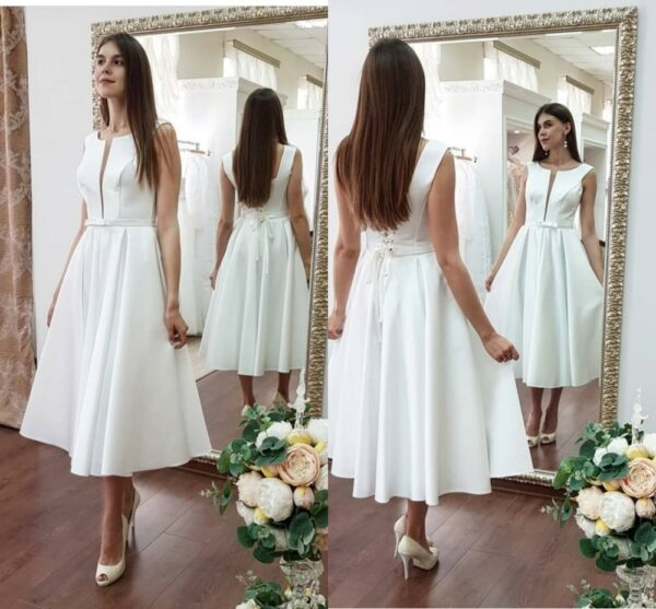 Robe de mariée courte chic blanche | Soirée Blanche