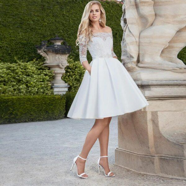 robe blanche de mariée courte   soirée blanche