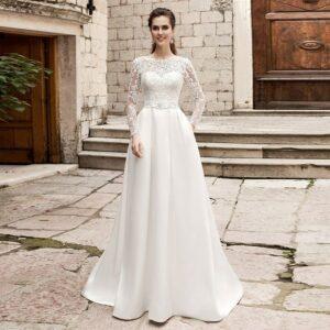 Robe de Mariée dentelle blanche | soirée blanche