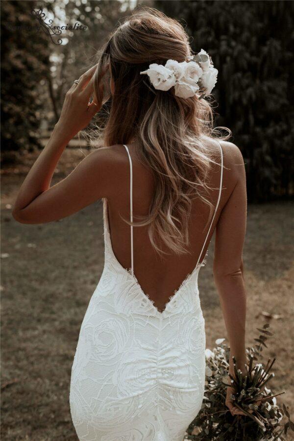 Robe De Mariée Sirène Blanc | Soirée Blanche