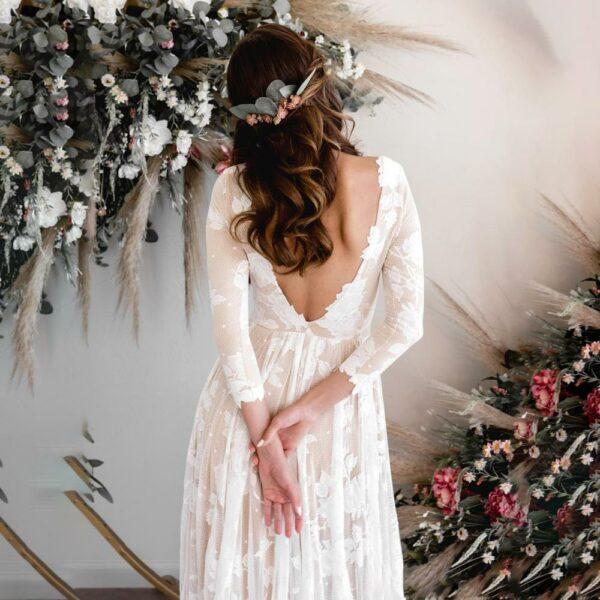 Robe De Mariée Blanche Dentelle | Soirée Blanche