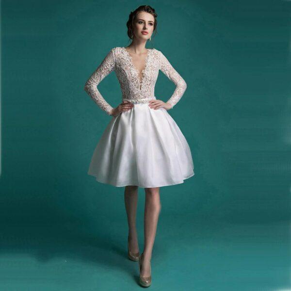 Robe De Mariée Blanche Courte   Soirée Blanche
