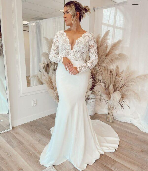 Sirène Robe De Mariée | Soirée Blanche