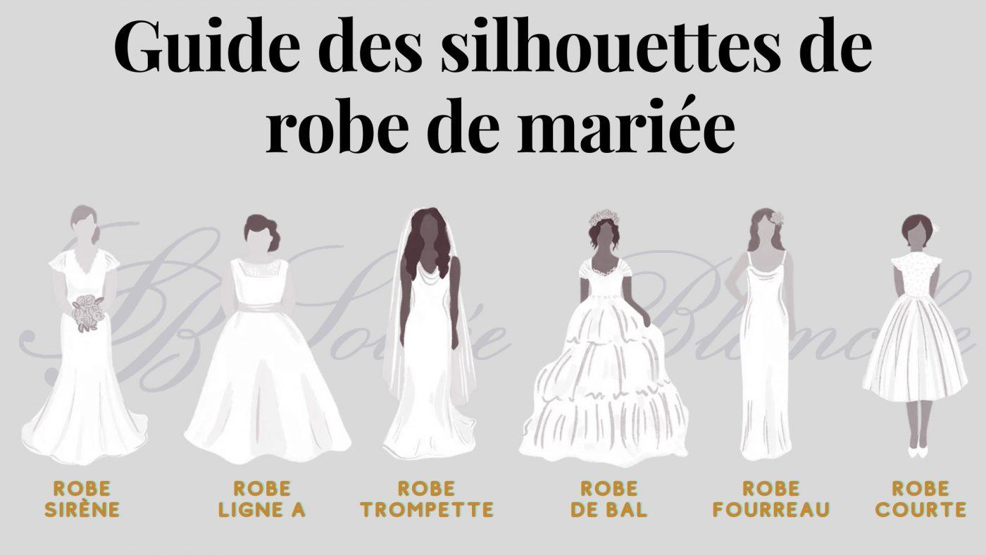 guide de chaque silhouette de robe de mariée | Soirée Blanche