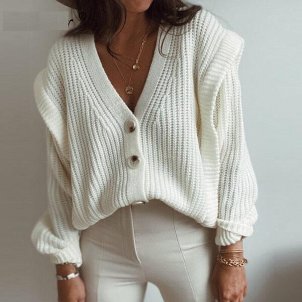 Gilet Oversize Blanc Femme   Soirée Blanche