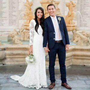 Robe De Mariée Manche Longue Dentelle | Soirée Blanche