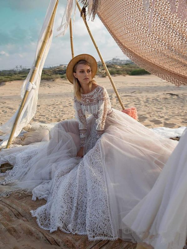 Robe De Mariée Princesse Bohème Blanche | Soirée Blanche
