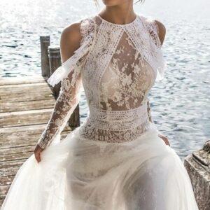 Robe De Mariée Bohème Sexy Blanche | Soirée Blanche