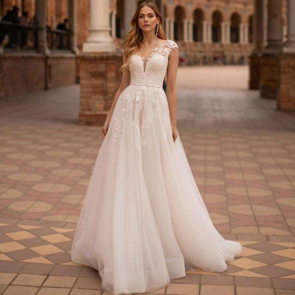 Robe De Mariée Romantique Bohème | Soirée Blanche