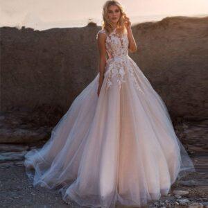 Robe De Mariée Princesse Avec Traine | Soirée Blanche
