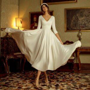 Robe De Mariée Courte Bohème   Soirée Blanche